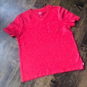 GAP Kids Boys Cotton V-Neck Red Shirt EUC